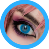 Bubble 101 blue colored contact lenses cosplay lenses, circle lenses, colored contacts, costume lenses