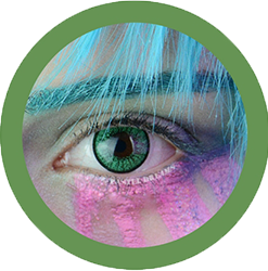 EOS New Adult 203 green contact lenses, circle lenses,dolly eyes,cosplay, theatrical lenses, kawaii
