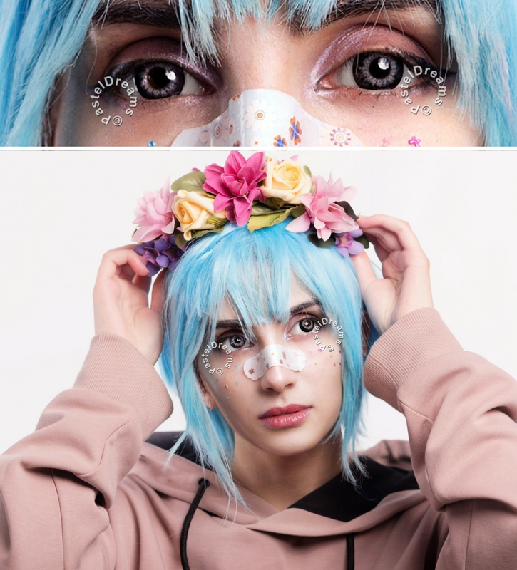 EOS pop 204 gray colored contact lenses cosplay lenses, circle lenses, colored contacts, costume lenses