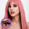 EOS pop 204 violet colored contact lenses cosplay lenses, circle lenses, colored contacts, costume lenses