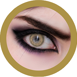 eos vega brown colored contact lenses cosplay lenses, circle lenses, colored contacts, costume lenses