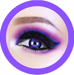 EOS Super Neon 209 violet colored contact lenses cosplay lenses, circle lenses, colored contacts, costume lenses