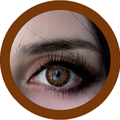 EOS Baron brown colored lenses, colored contact lenses cosplay lenses, circle lenses, colored contacts, costume lenses