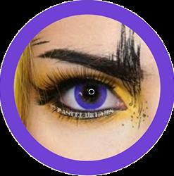 eos Bubble 101 Violet, purple colored contact lenses cosplay lenses, circle lenses, colored contacts, costume lenses