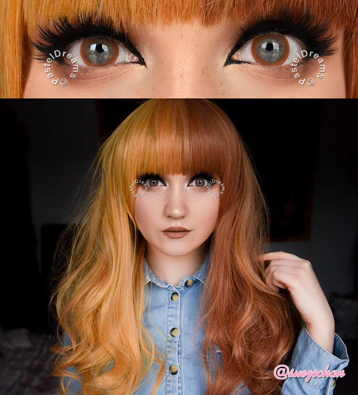 Bubble 101 Brown colored contact lenses cosplay lenses, circle lenses, colored contacts, costume lenses