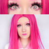 EOS 223 dark pink colored contact lenses cosplay lenses, circle lenses, colored contacts, costume lenses