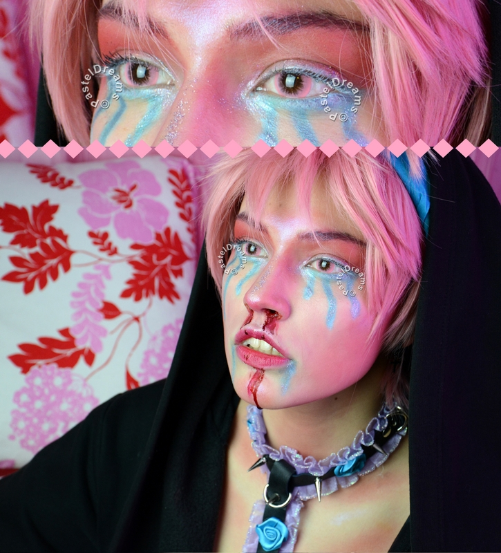 Bubble 101 pink colored contact lenses cosplay lenses, circle lenses, colored contacts, costume lenses