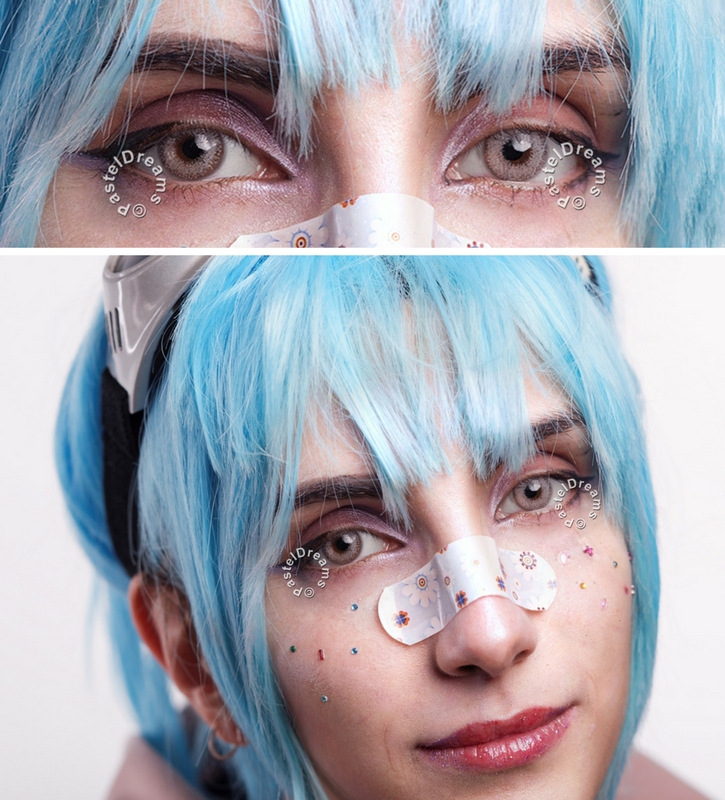 eos crystal b gray colored contact lenses cosplay lenses, circle lenses, colored contacts, costume lenses