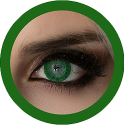 EOS 223 dark green colored contact lenses cosplay lenses, circle lenses, colored contacts, costume lenses