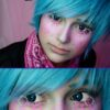 EOS pop 204 blue colored contact lenses cosplay lenses, circle lenses, colored contacts, costume lenses