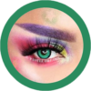 eos fancy f81 green colored contact lenses cosplay lenses, circle lenses, colored contacts, costume lenses