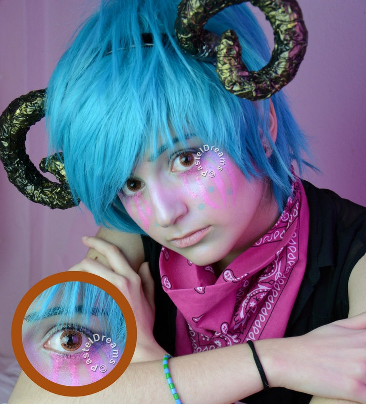 EOS dark 224 brown colored contact lenses cosplay lenses, circle lenses, colored contacts, costume lenses