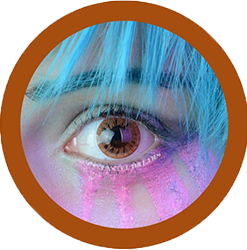 EOS dark 223 brown colored contact lenses cosplay lenses, circle lenses, colored contacts, costume lenses