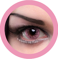 EOS dark ice pink colored contact lenses cosplay lenses, circle lenses, colored contacts, costume lenses