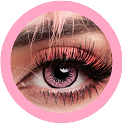 EOS New Adult 203 pink contact lenses, circle lenses,dolly eyes,cosplay, theatrical lenses, kawaii