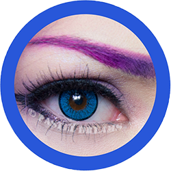 EOS New Adult 203 blue contact lenses, circle lenses,dolly eyes,cosplay, theatrical lenses, kawaii