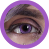 EOS New Adult 203 violet contact lenses, circle lenses,dolly eyes,cosplay, theatrical lenses, kawaii