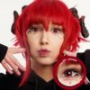 EOS New Adult 203 red contact lenses, circle lenses,dolly eyes,cosplay, theatrical lenses, kawaii