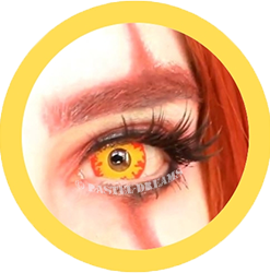 EOS pennywise yellow,red colored contact lenses cosplay lenses, circle lenses, colored contacts, costume lenses