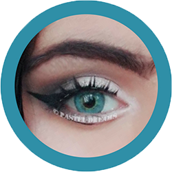 EOS pixie blue turquoise colored contact lenses cosplay lenses, circle lenses, colored contacts, costume lenses