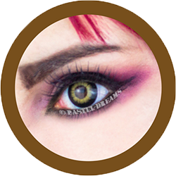 EOS pop 204 brown colored contact lenses cosplay lenses, circle lenses, colored contacts, costume lenses