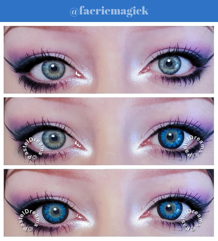 sassy girl 215 blue green colored contact lenses cosplay lenses, circle lenses, colored contacts, costume lenses