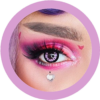 sassy girl 215 pink colored contact lenses cosplay lenses, circle lenses, colored contacts, costume lenses