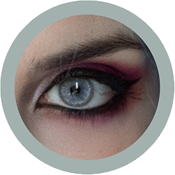 Eos Sole 1T gray colored contact lenses cosplay lenses, circle lenses, colored contacts, costume lenses by eos