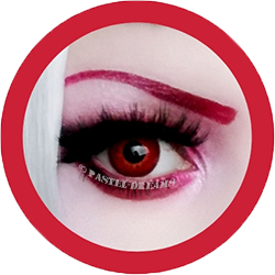 EOS tania red colored contact lenses cosplay lenses, circle lenses, colored contacts, costume lenses