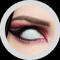 EOS white mesh screen contact lenses cosplay lenses, circle lenses, colored contacts, costume lenses