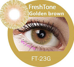 freshtone golden ash -golden brown cosmetic contact lenses, circle lenses, colored contacts