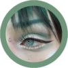 reshtone golden ash -green ash cosmetic contact lenses, circle lenses, colored contacts