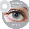 freshtone golden ash -gray ash cosmetic contact lenses, circle lenses, colored contacts