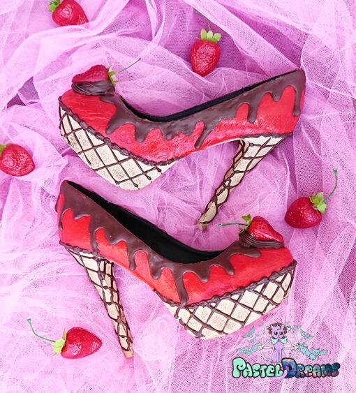 88b5ad69fe ice cream cupcake cake jelly red custom shoes