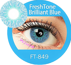 freshtone extra brilliant blue cosmetic contact lenses, circle lenses, colored contacts