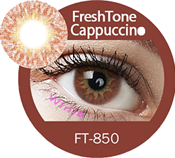 freshtone extra cappuccino brown cosmetic contact lenses, circle lenses, colored contacts