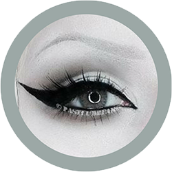 freshtone extra platinum gray cosmetic contact lenses, circle lenses, colored contacts