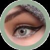 freshtone golden ash -green ash cosmetic contact lenses, circle lenses, colored contacts
