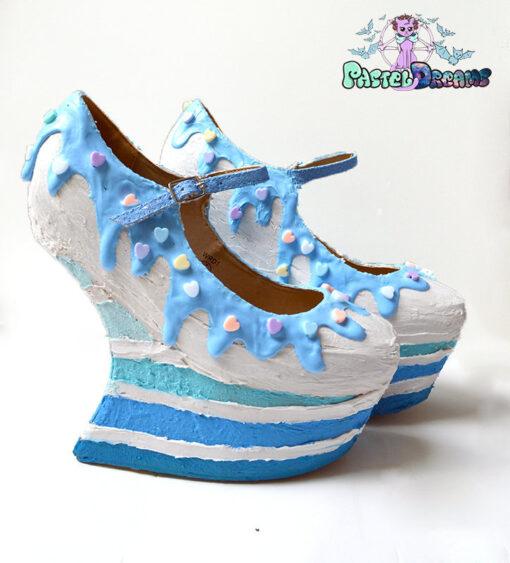 91e5348a06b5d Blue rainbow heels