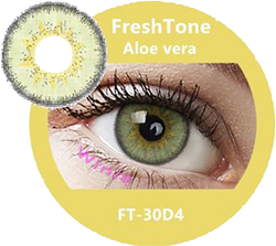 freshtone diva aloe vera green gray cosmetic contact lenses, circle lenses, colored contacts