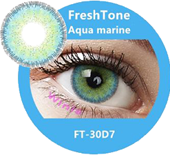 freshtone diva aqua marine blue cosmetic contact lenses, circle lenses, colored contacts