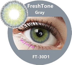 freshtone diva gray cosmetic contact lenses, circle lenses, colored contacts