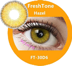 freshtone diva hazel cosmetic contact lenses, circle lenses, colored contacts