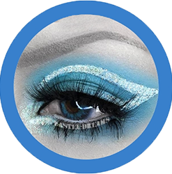 reshtone extra brilliant blue cosmetic contact lenses, circle lenses, colored contacts