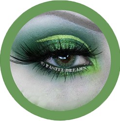 freshtone extra party green cosmetic contact lenses, circle lenses, colored contacts