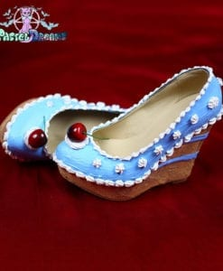 Let them have cake shoes custom made heels wedges shoes one of the kind, Kawaii