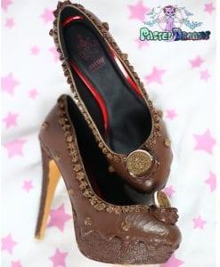 Oreo chocolate cake custom made heels shoes one of the kind, Pastel Goth