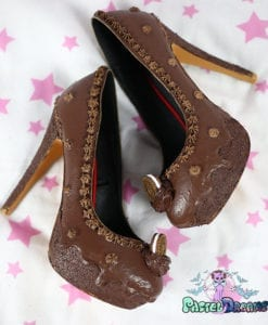 Oreo chocolate cake custom made heels shoes one of the kind, Pastel Goth
