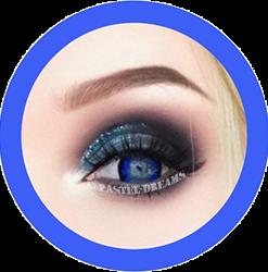 solstice blue primal colored contact lenses, cosplay lenses, costume, enlargement lenses, halloween lenses, cosplay contact lenses