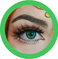 solstice green primal colored contact lenses, cosplay lenses, costume, enlargement lenses, halloween lenses, cosplay contact lenses